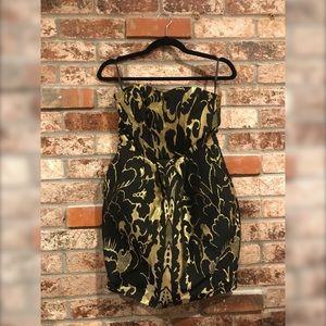 H&M Black & Gold Party Dress